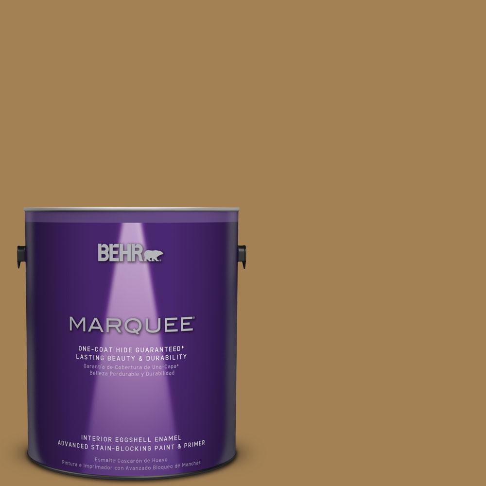 1 gal. #MQ2-14 Lavish Gold One-Coat Hide Eggshell Enamel Interior Paint