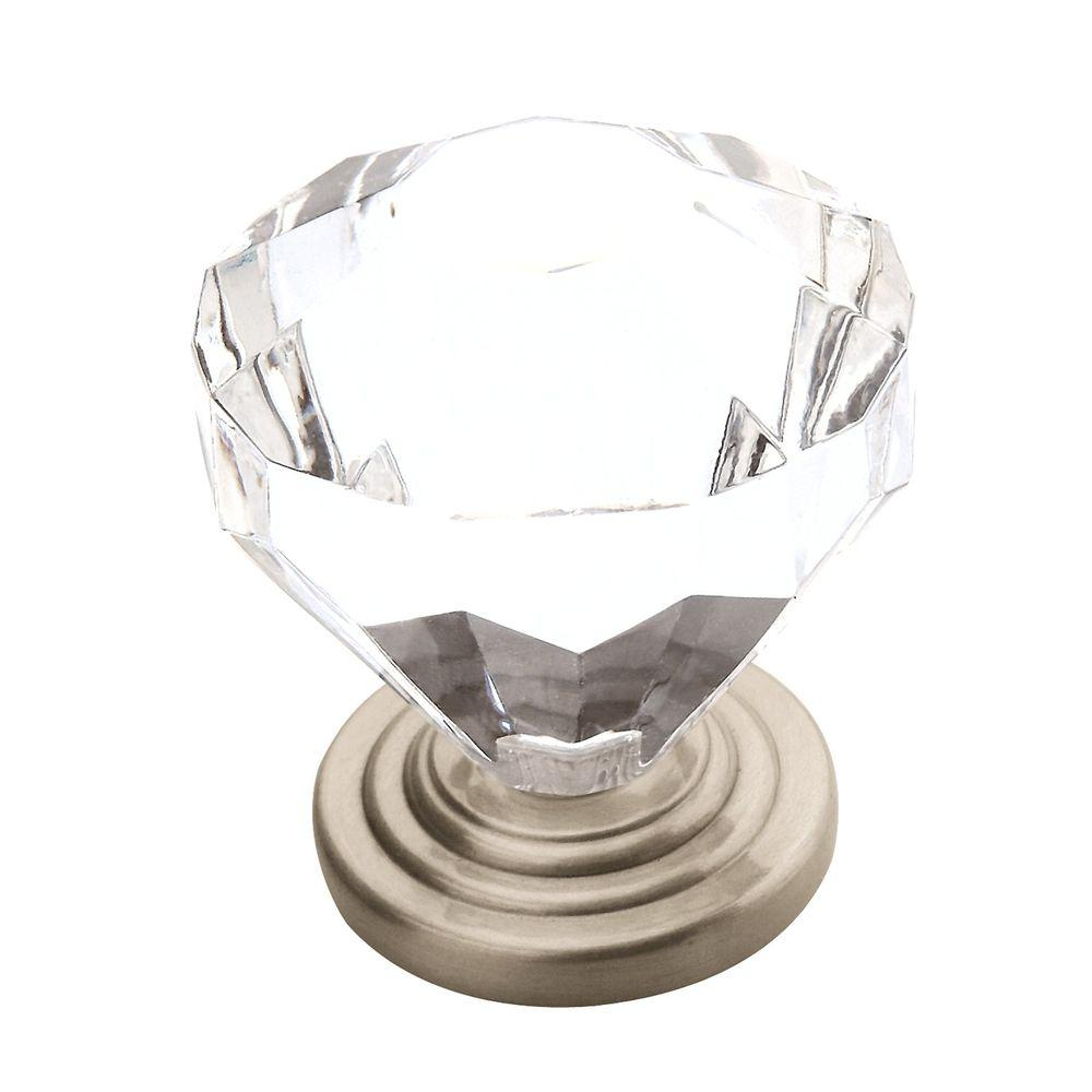 Amerock Traditional Classics 1 1/4 In. Satin Nickel Cabinet Knob