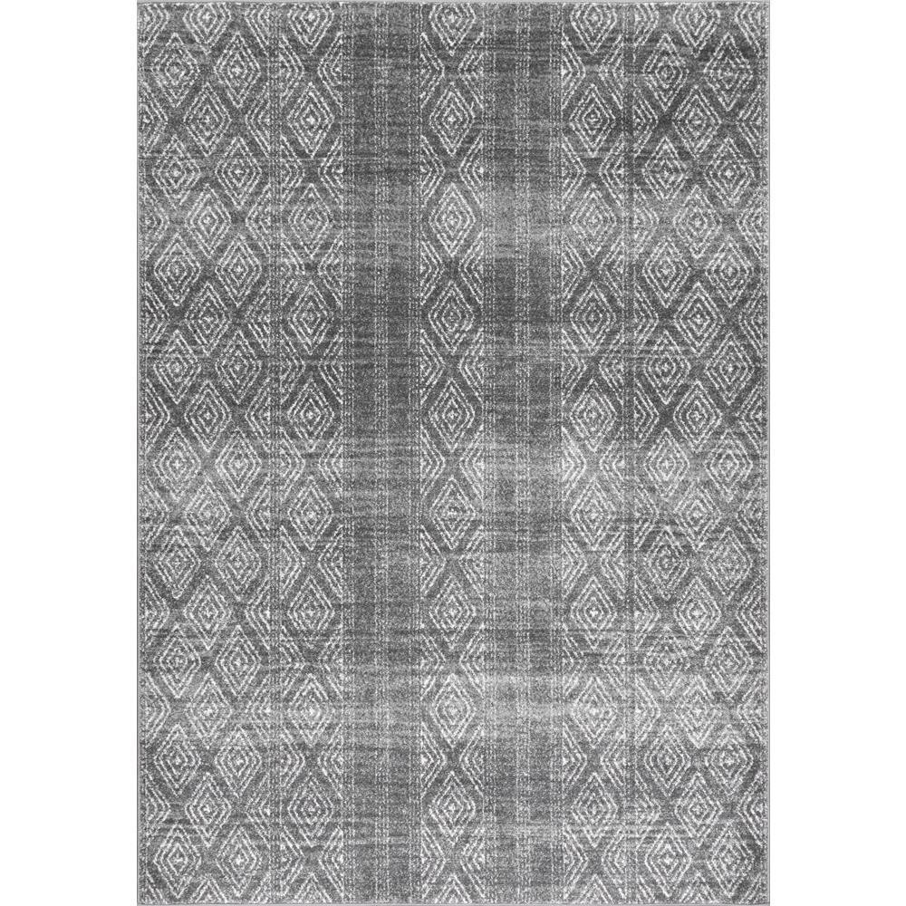 Nuloom Sarina Diamonds Dark Gray 9 X 12 Area Rug