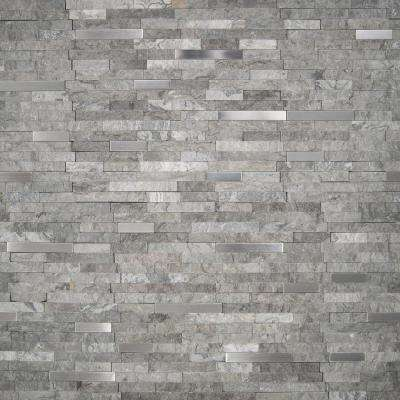 Eclipse Interlocking 12 in. x 12 in. x 8 mm Matte Metal Stone Mesh-Mounted Mosaic Wall Tile (10 sq. ft. / case)