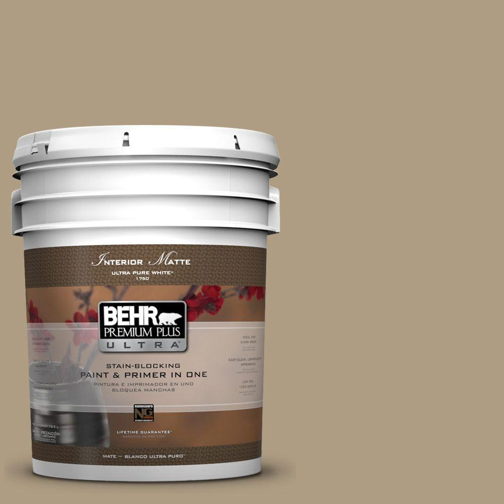 BEHR Premium Plus Ultra 5 gal. #UL190-19 Tatami Mat Flat/Matte Interior Paint