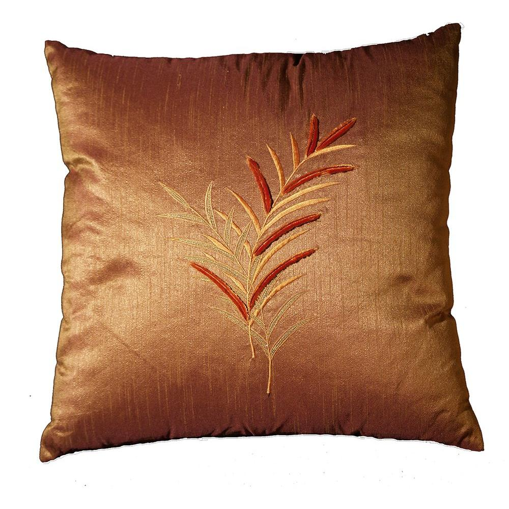 LR Resources Contemporary Thistledown Rattan 18 in. x 18 in. Square Decorative Accent Pillow (2-Pack)