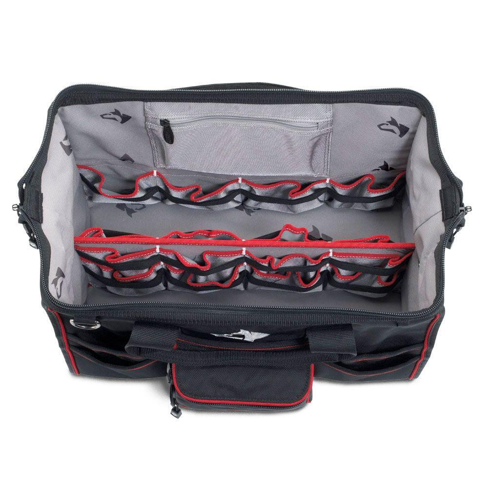 Tool Bag Tote Storage Organizer 31 Internal 12 External Pockets Black Jobsite 600186858527 Ebay