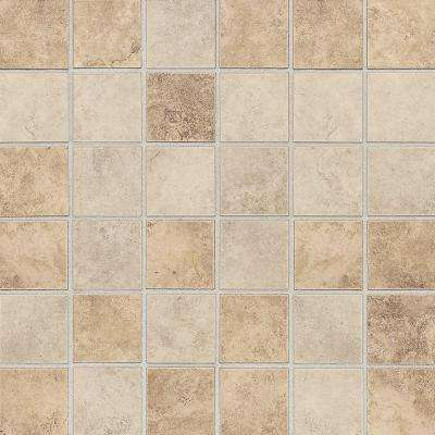 Rio Mesa Desert Sand 12 in. x 12 in. x 8 mm Ceramic Mosaic Tile