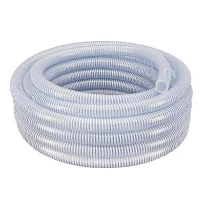 1-1/2 in. Dia x 50 ft. Clear Flexible PVC Suction and Discharge Hose with White Reinforced Helix