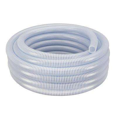2 in. Dia x 25 ft. Clear Flexible PVC Suction and Discharge Hose with White Reinforced Helix