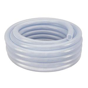 2 in. Dia x 50 ft. Clear Flexible PVC Suction and Discharge Hose with White Reinforced Helix