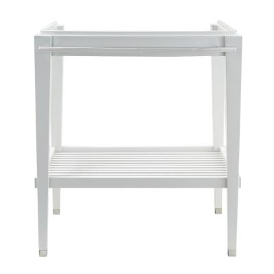 Townsend Washstand 30 in. Bath Vanity Washstand Only in White