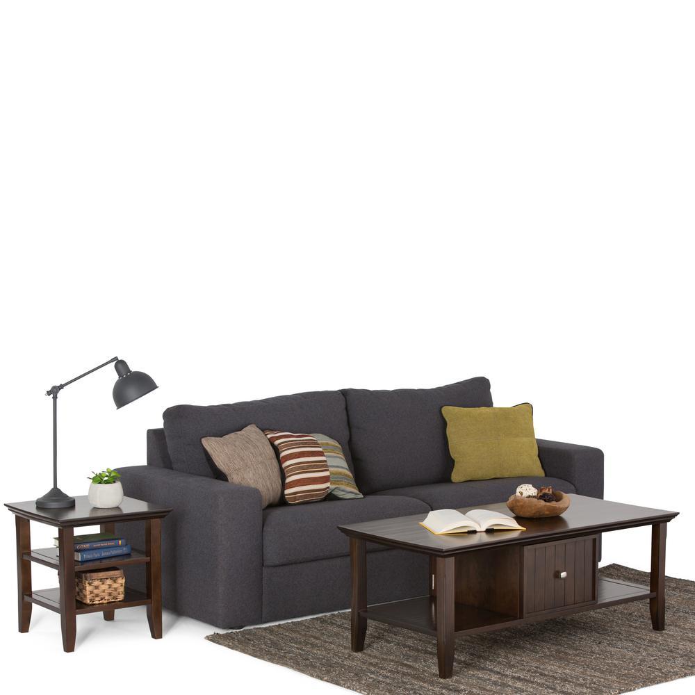 Simpli Home Acadian Dark Coffee Table