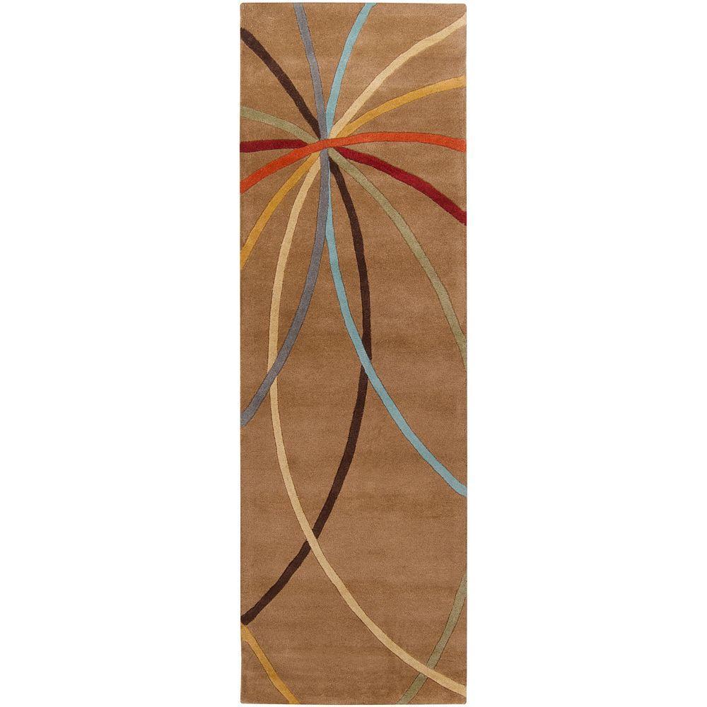 Artistic Weavers Hughson Mocha 3 ft. x 12 ft. Rug Runner