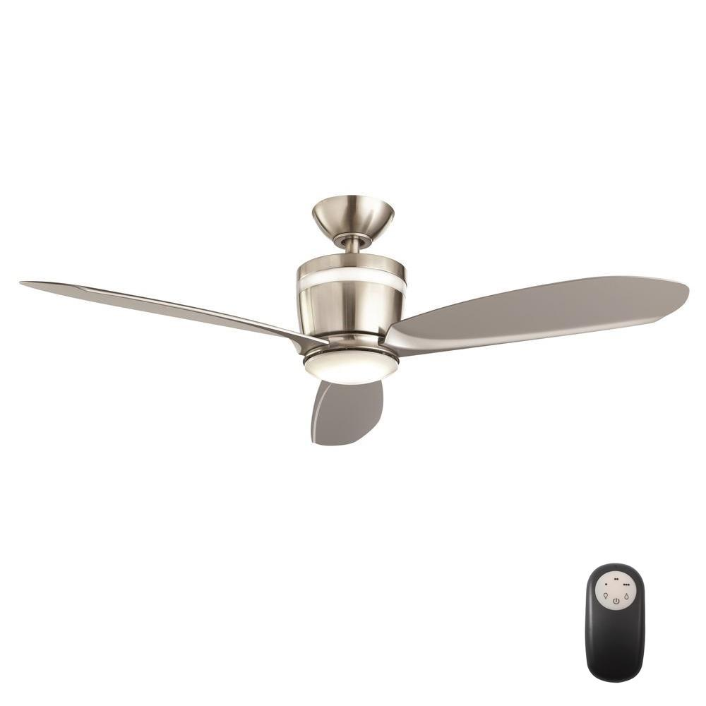Home Decorators Collection Federigo 48 In Led Indoor Brushed Nickel Ceiling Fan With Light Kit
