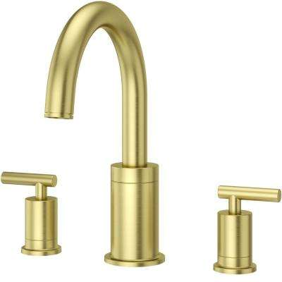 Contempra 2-Handle Deck-Mount Roman Tub Faucet Trim Kit in Brushed Gold