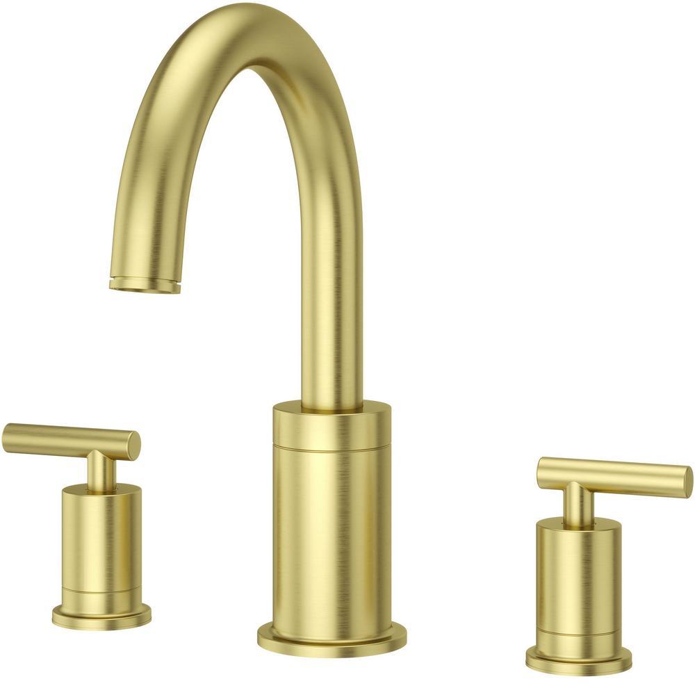 Contempra 2-Handle Deck-Mount Roman Tub Faucet Trim Kit in Brushed Gold