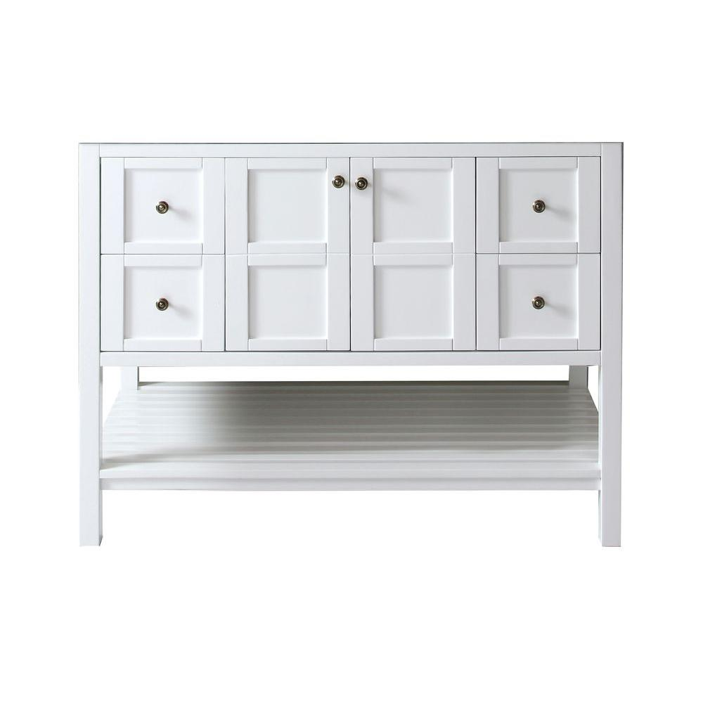 Virtu USA Winterfell 48 in. W Bath Vanity Cabinet Only in White-ES ...