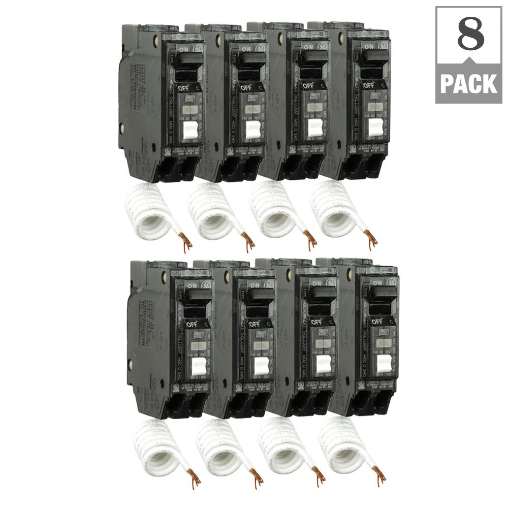 Square D Homeline 15 Amp Single Pole Gfci Circuit Breaker 20a Afci Chfcaf120neweggcom Q Line Arc Fault Combination 8 Pack