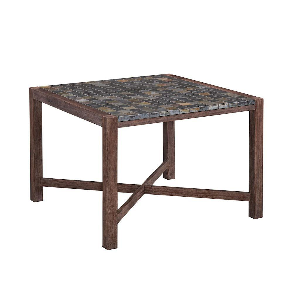 Home styles morocco square acacia wood patio dining table