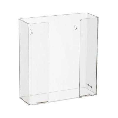 Double Box Capacity Acrylic Glove Dispenser