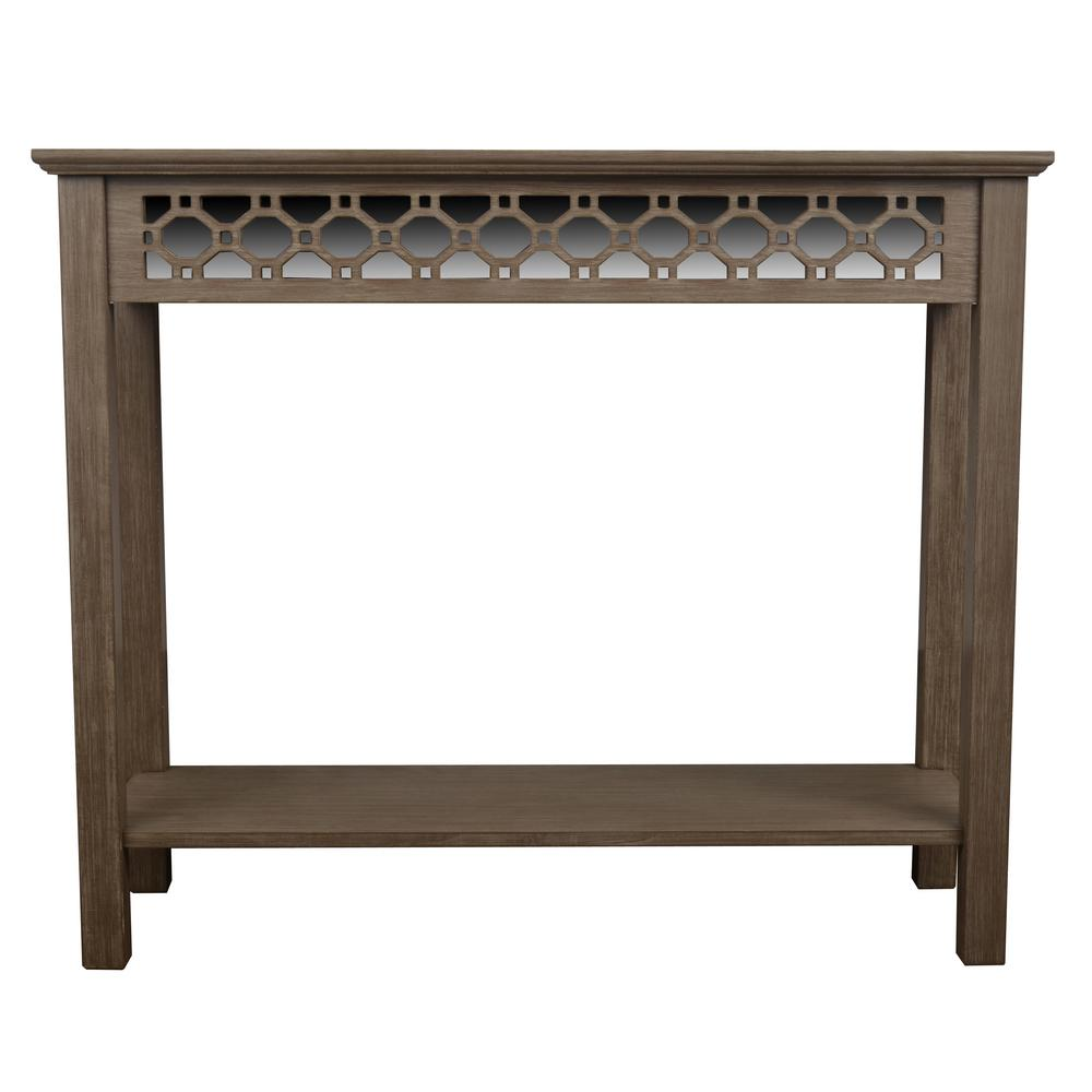 Decor therapy mirrored winter wood console table fr6366 the home decor therapy mirrored winter wood console table geotapseo Gallery