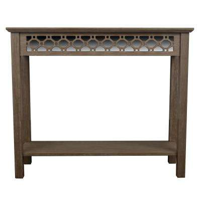 Mirrored Winter Wood Console Table