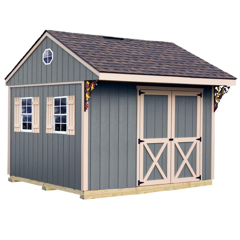 Best Barns Northwood 10 Ft X 10 Ft Wood Storage Shed Kit With Floor Including 4 X 4 Runners Northwood 1010df The Home Depot