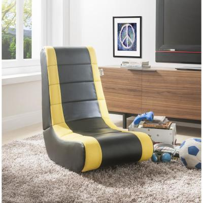 Swell Faux Leather Yellow Chairs Living Room Furniture The Gmtry Best Dining Table And Chair Ideas Images Gmtryco