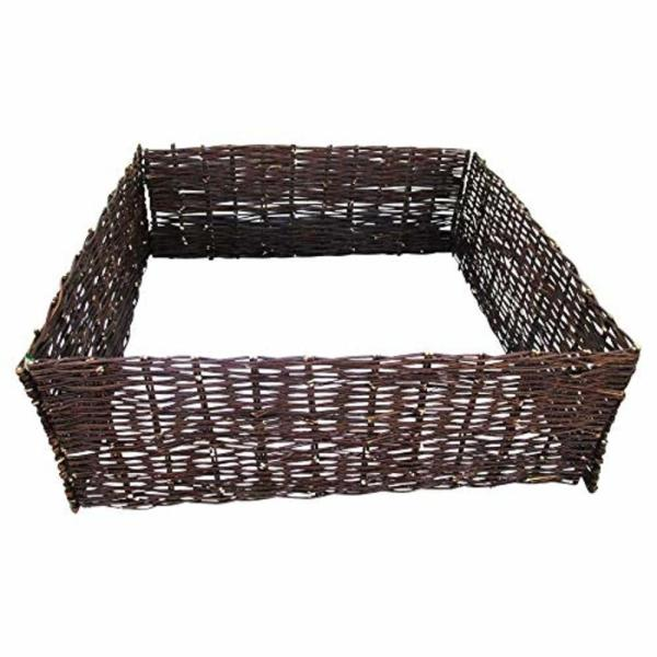 48 in. W x 48 in. L x 8 in. H Woven Willow Arch Top Raised Garden Bed Kit