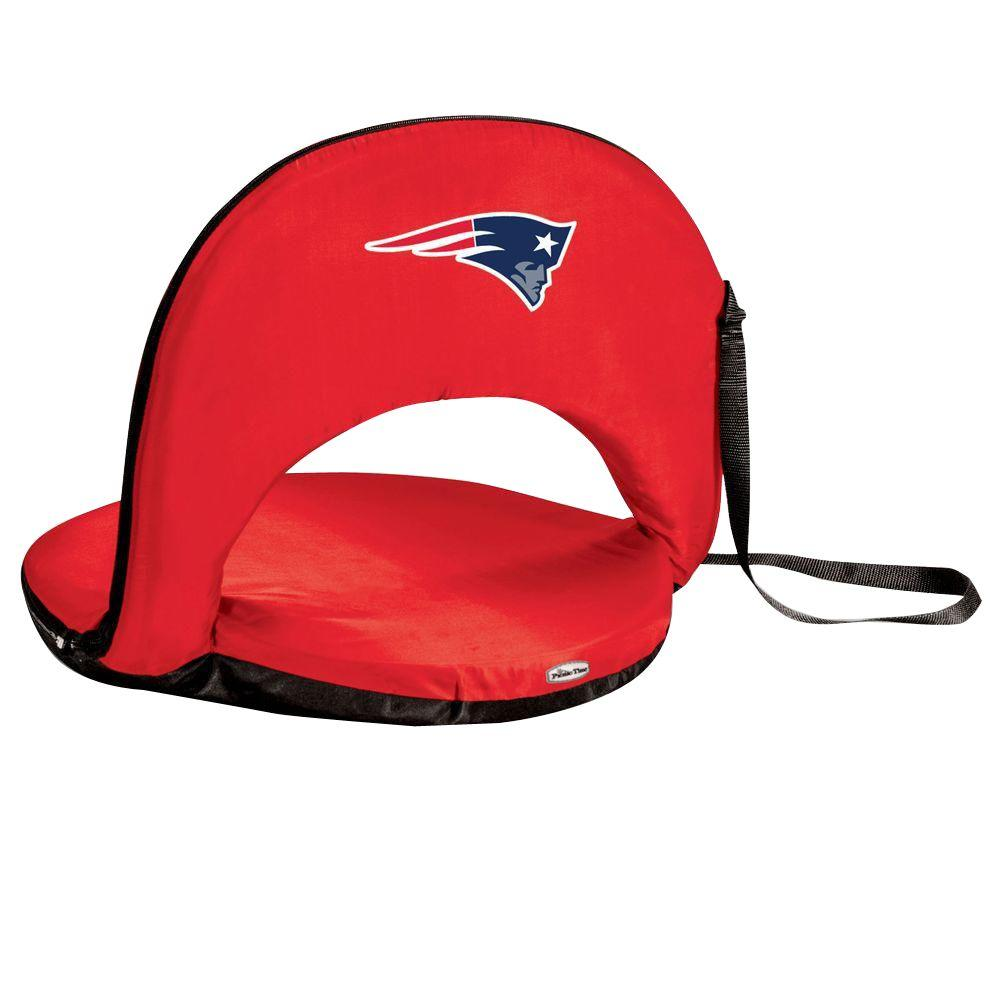Oniva New England Patriots Red Patio Sports Chair with Digital Logo