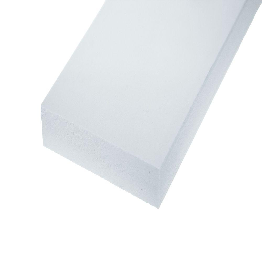 AZEK Trim 1 in  x 5-1/2 in  x 12 ft  Traditional Trim PVC Board