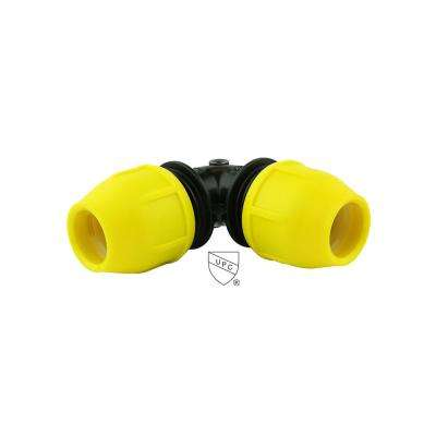 3/4 in  IPS DR 11 Underground Yellow Poly Gas Pipe 90-Degree Elbow