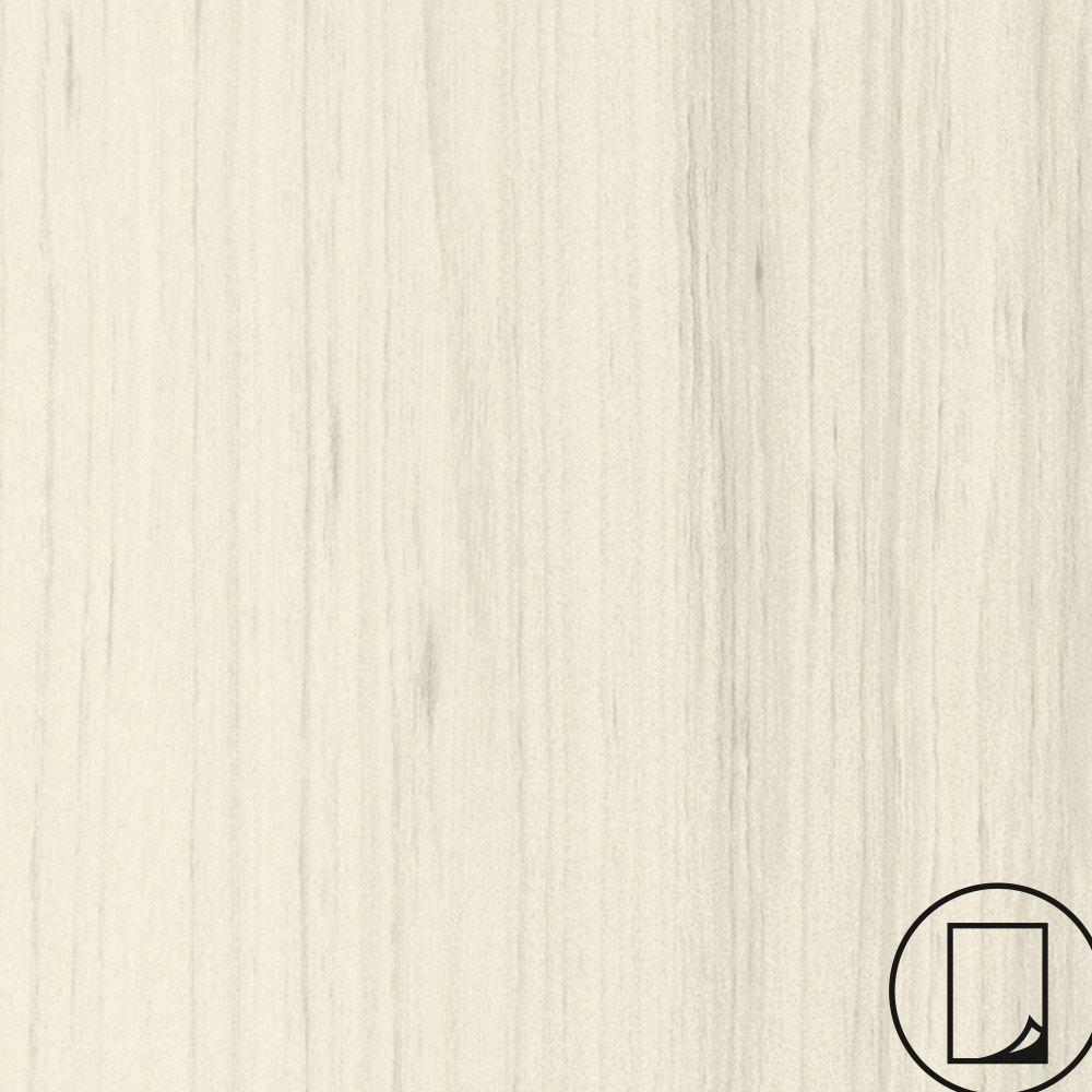 Wilsonart 4 ft. x 8 ft. Laminate Sheet in RE-COVER White Cypress with Premium SoftGrain Finish