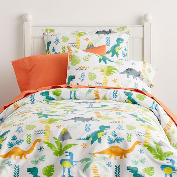 Company Kids by The Company Store Giant Dinos Cotton Percale Multi