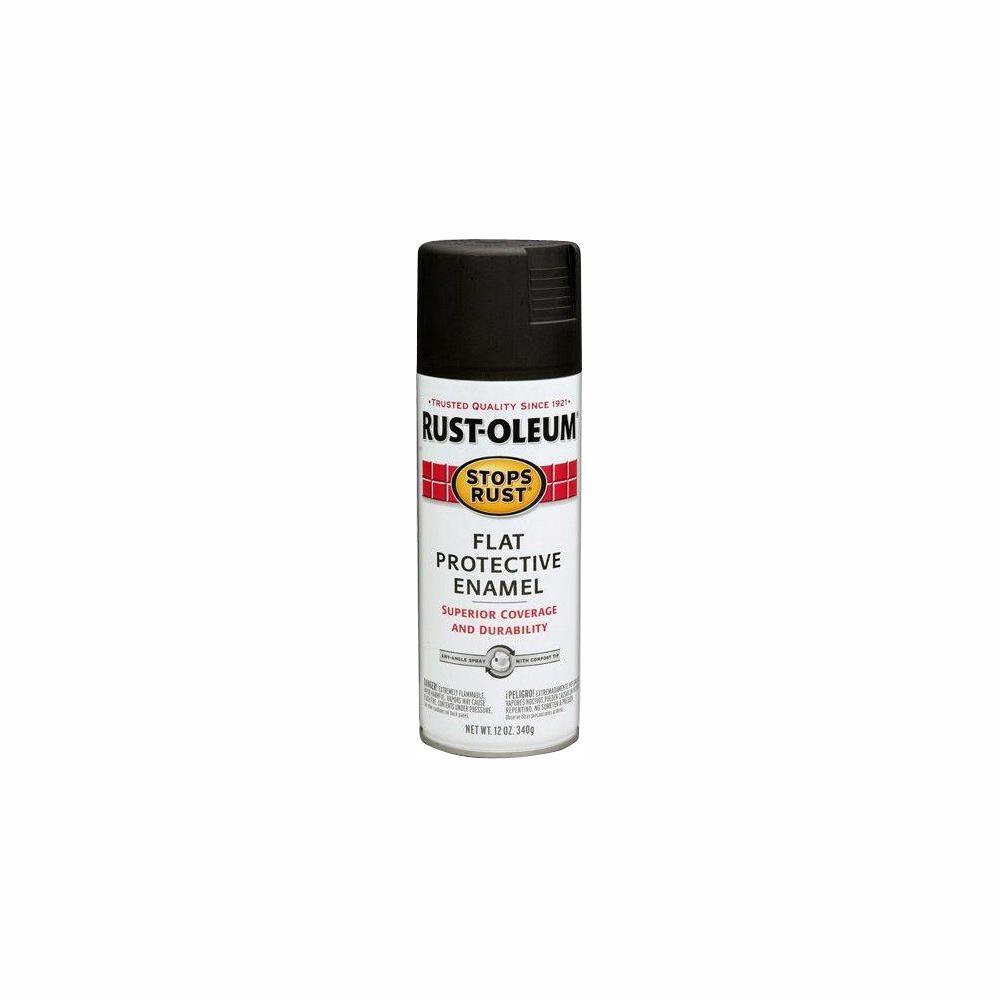 12 oz. Protective Enamel Flat Black Spray Paint (6-Pack)