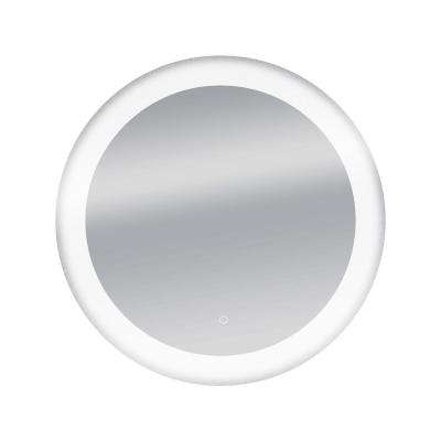 34 in. Circle Round LED Wall Mounted Backlit Vanity Bathroom LED Mirror with Touch On/Off Dimmer and Anti-Fog Function