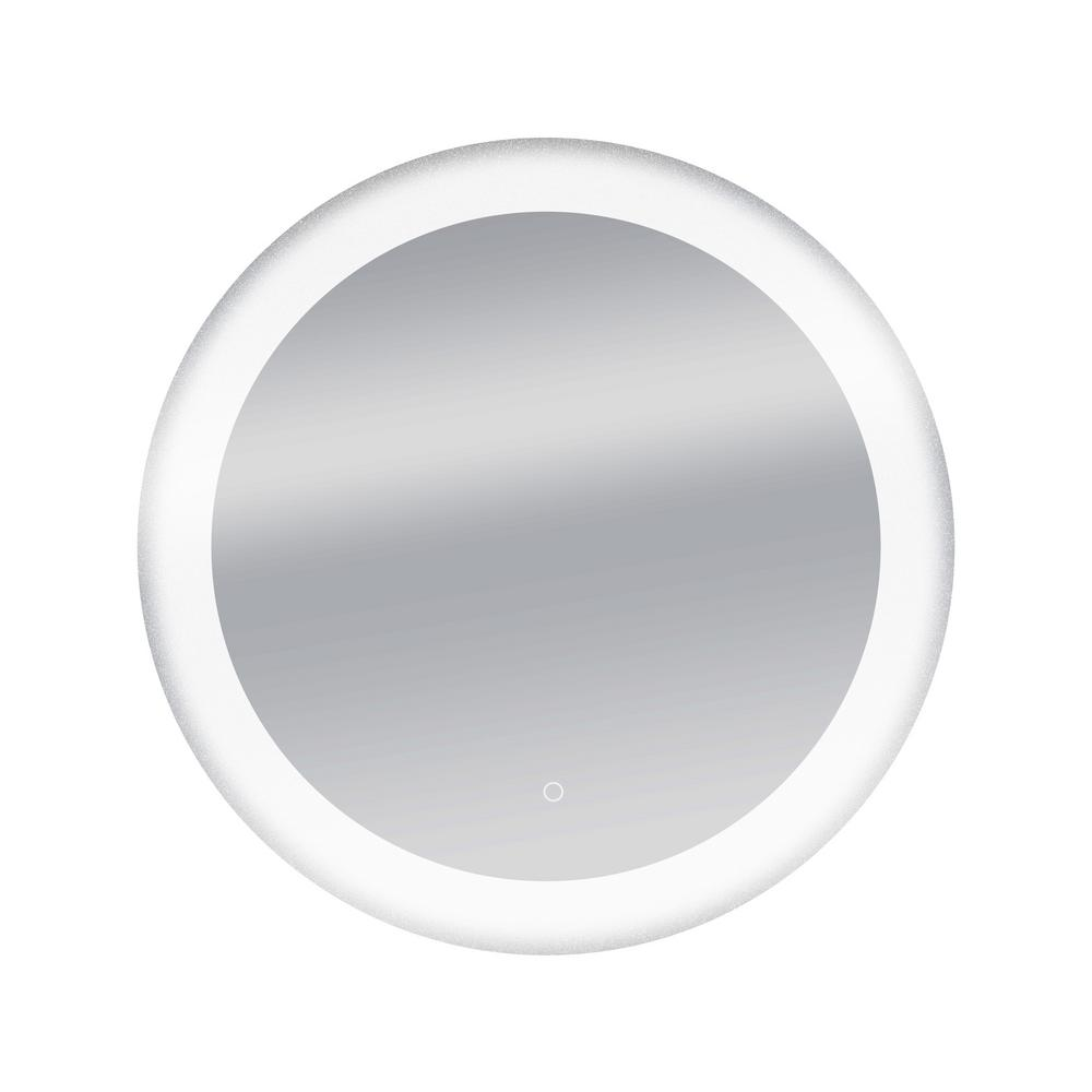 Dyconn 34 in. Circle Round LED Wall Mounted Backlit Vanity Bathroom ...