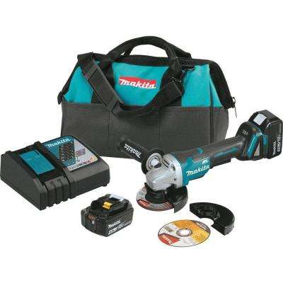 18-Volt Lithium-Ion Brushless Cordless 4-1/2 in. Paddle Switch Cut-Off/Angle Grinder Kit