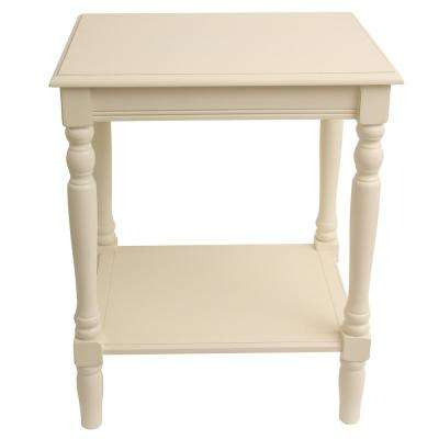 Simplify Antique White End Table