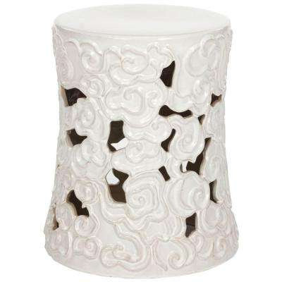 Cloud White Garden Patio Stool