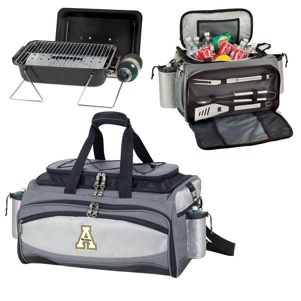 Picnic Time App State Mountaineers - Vulcan Portable Propane Grill and Cooler Tote with Digital Logo