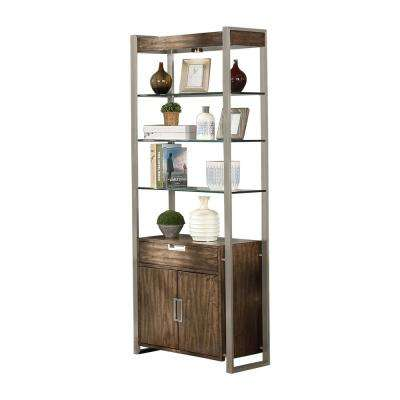Soho Birch Brown and Grey Standard Bookcase