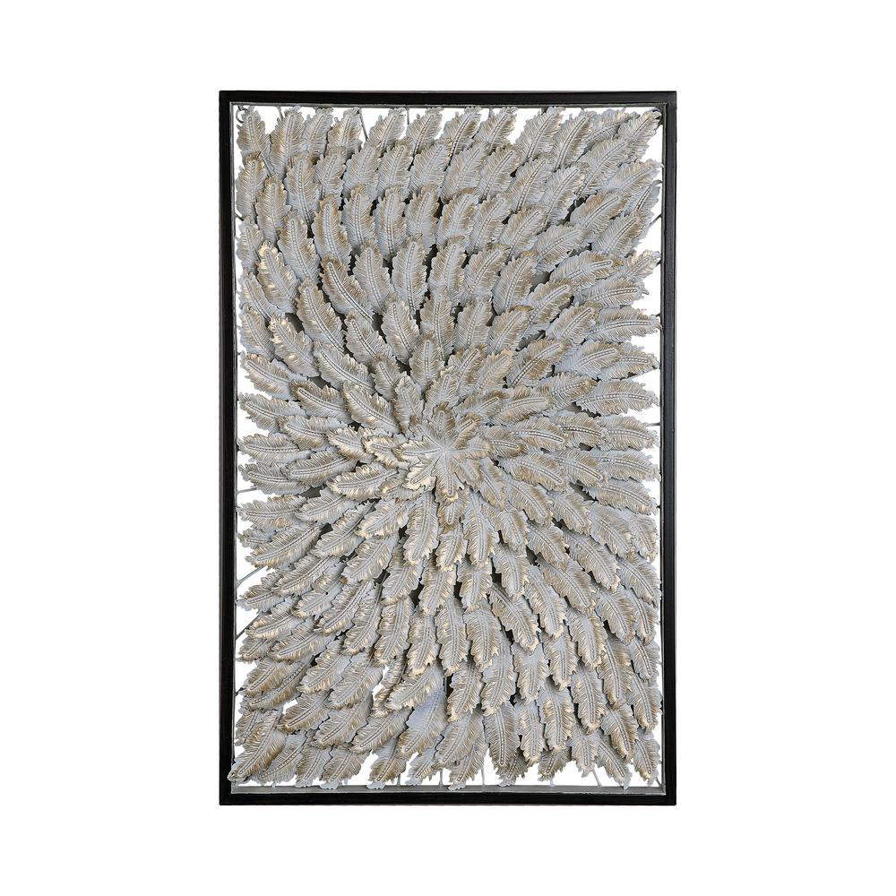 "28 in. x 18 in. ""Goldplume"" Wood and Metal Framed Wall"