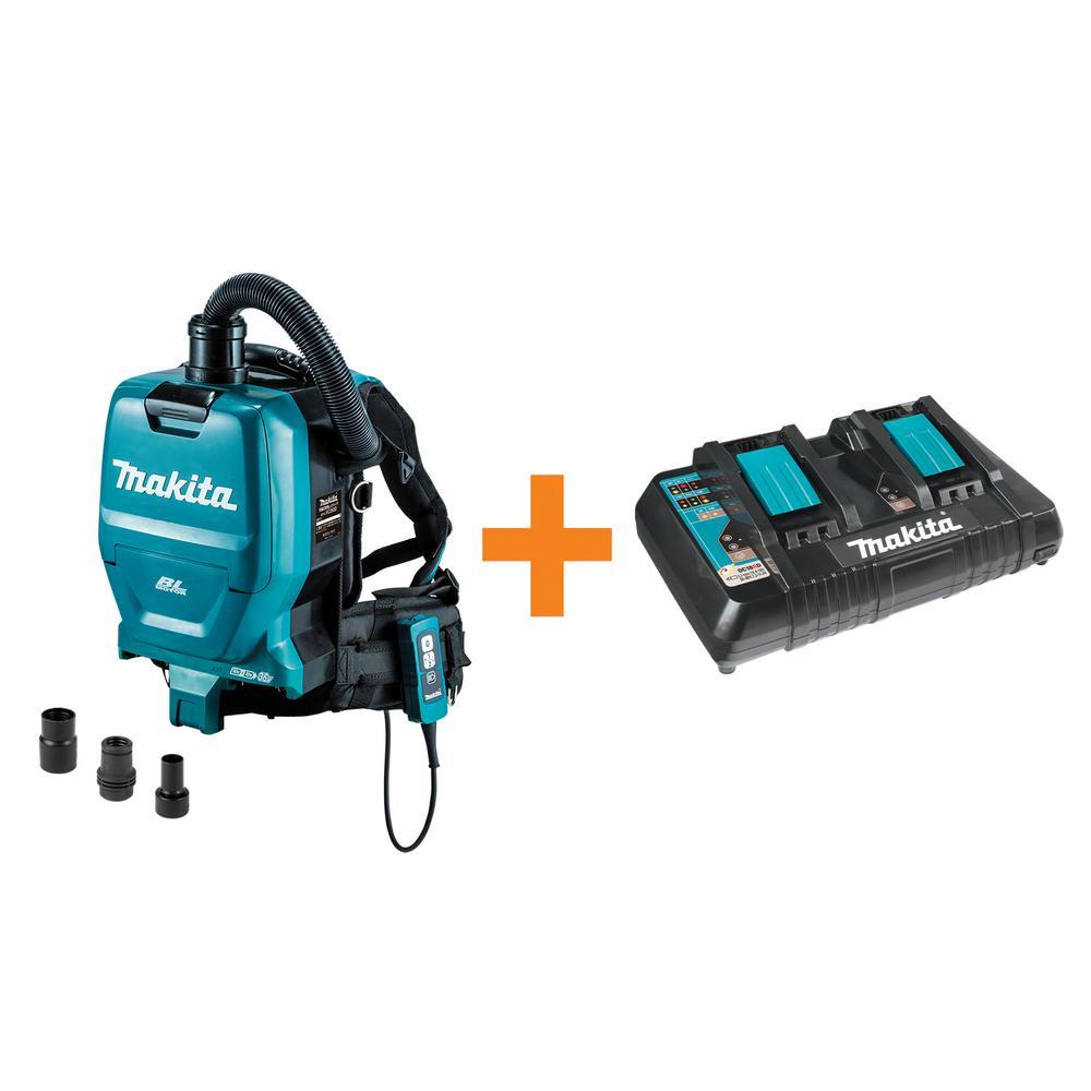b7fdbf1e0ef2 Makita 18-Volt X2 LXT 36-Volt Brushless Cordless Backpack Vacuum (Tool-