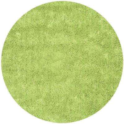 Classic Shag Ultra Lime 4 Ft. X 4 Ft. Round Area Rug