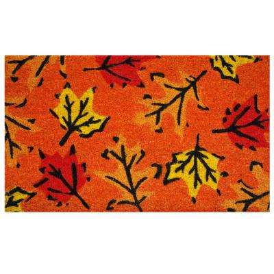 Fall Leaves 17 in. x 29 in. Coir Door Mat