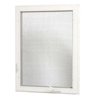 Vinyl Casement Window with Screen
