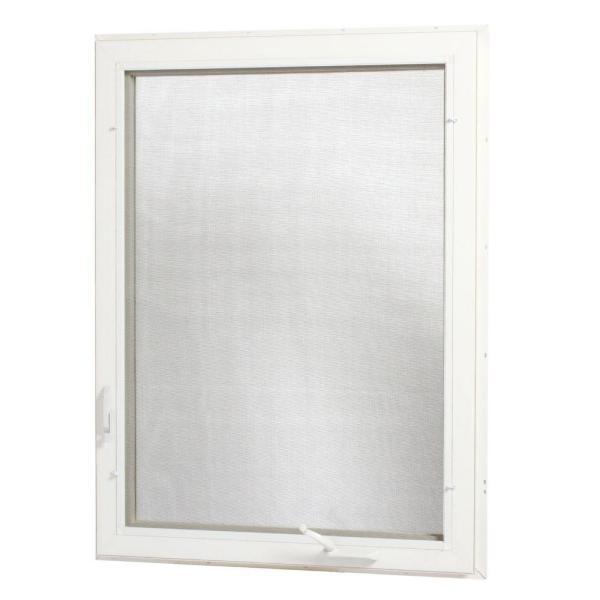 36 in. x 48 in. Right-Hand Vinyl Casement Window with Screen - White