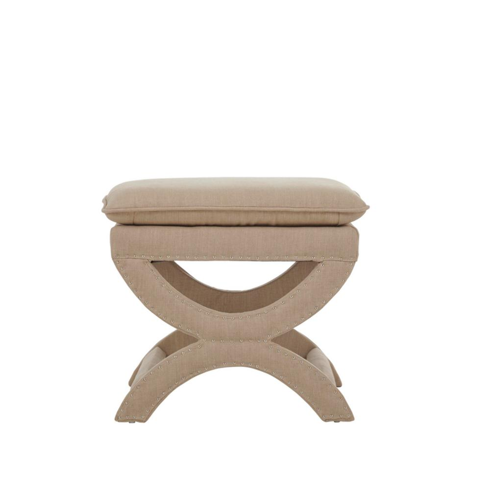 Phenomenal Valencia 19 5 In H Upholstered Vanity Stool In Dark Beige Andrewgaddart Wooden Chair Designs For Living Room Andrewgaddartcom