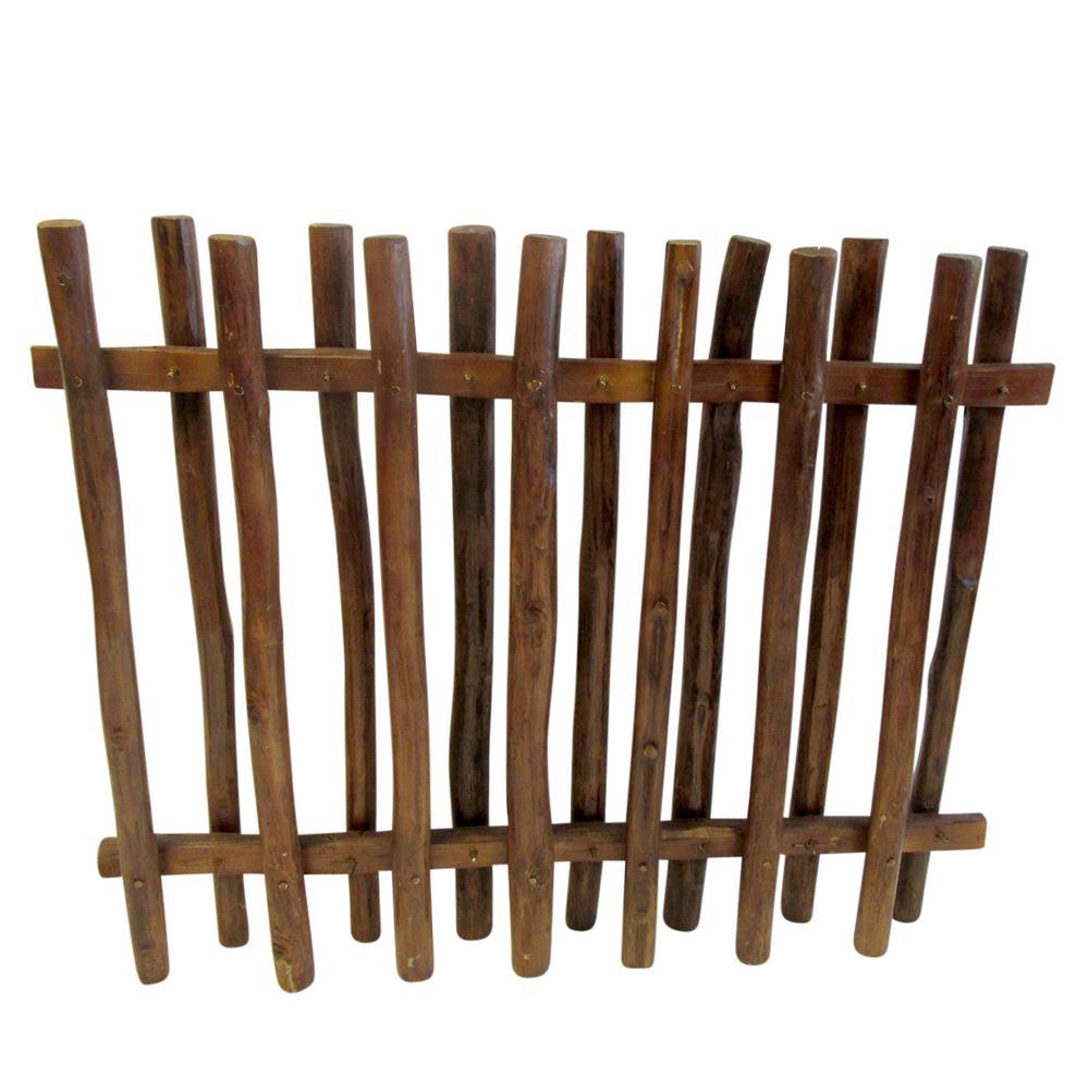 Mgp 40 In H X 48 In L Teak Wood Picket Fence