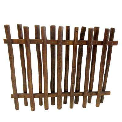 40 in. H x 48 in. L Teak Wood Picket Fence