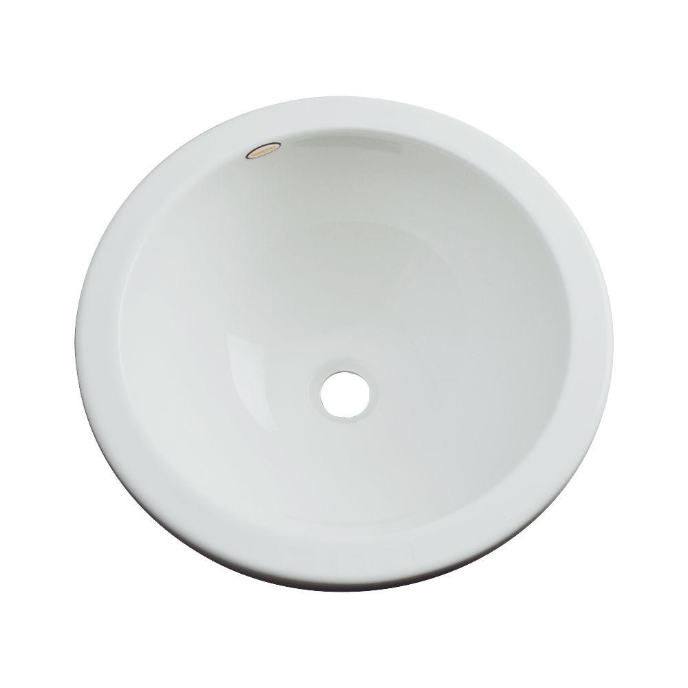 Thermocast Calio Undermount Bathroom Sink in Sterling Silver