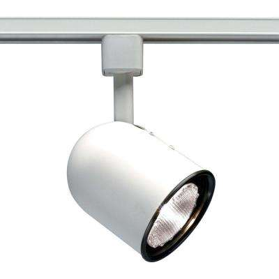 1-Light PAR20 White Track Lighting Head Short Bullet Cylinder